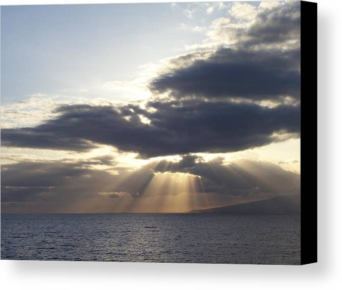 Ocean Canvas Print featuring the photograph Ocean Sunset by Dawn Marie Black