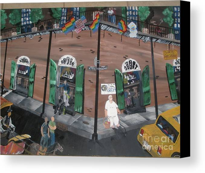 Canvas Print featuring the painting Old Bourbon by Kalvin Washington