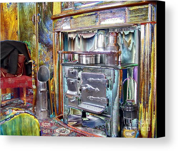 Old Canvas Print featuring the photograph Old Stove by John Johnson