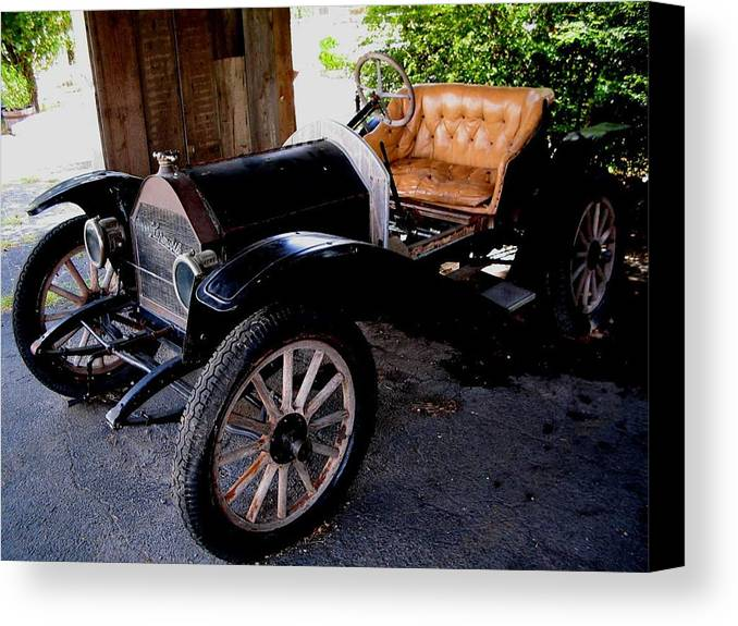 Car Canvas Print featuring the photograph Old Timer by April Patterson