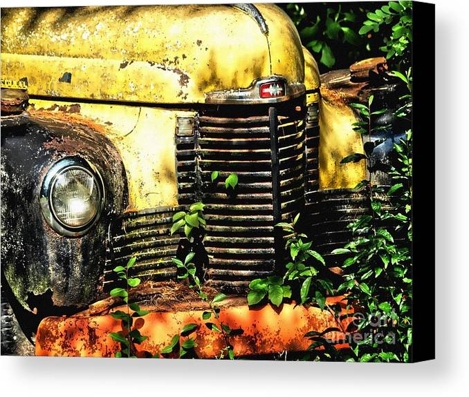 Canvas Print featuring the photograph Old Transportation by Kathy Jennings