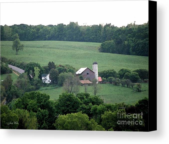 Hills Canvas Print featuring the photograph On The Farm by Judy Waller