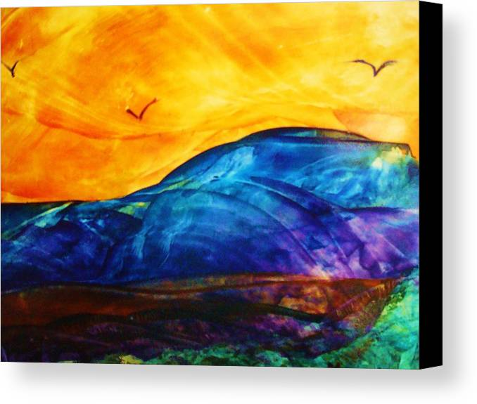 Landscape Canvas Print featuring the painting One Fine Day by Melinda Etzold