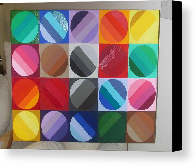 Green Canvas Print featuring the painting Over The Rainbow 2 by Gay Dallek