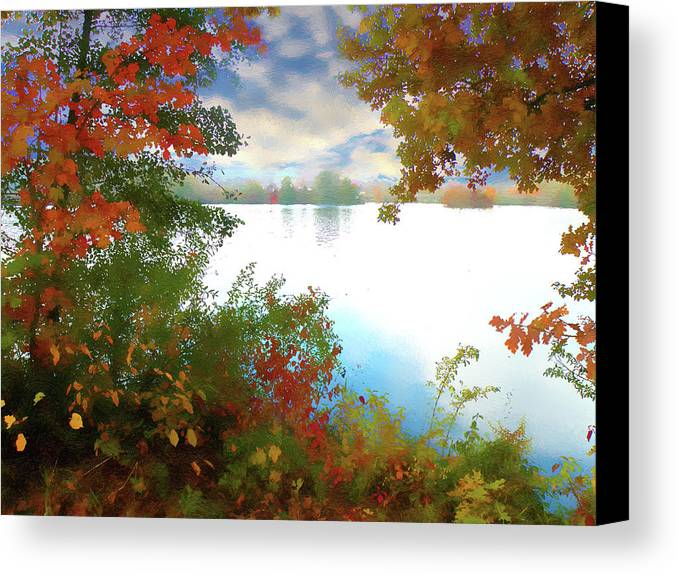 Nature Canvas Print featuring the digital art Paints Of Fall by Alex Lim