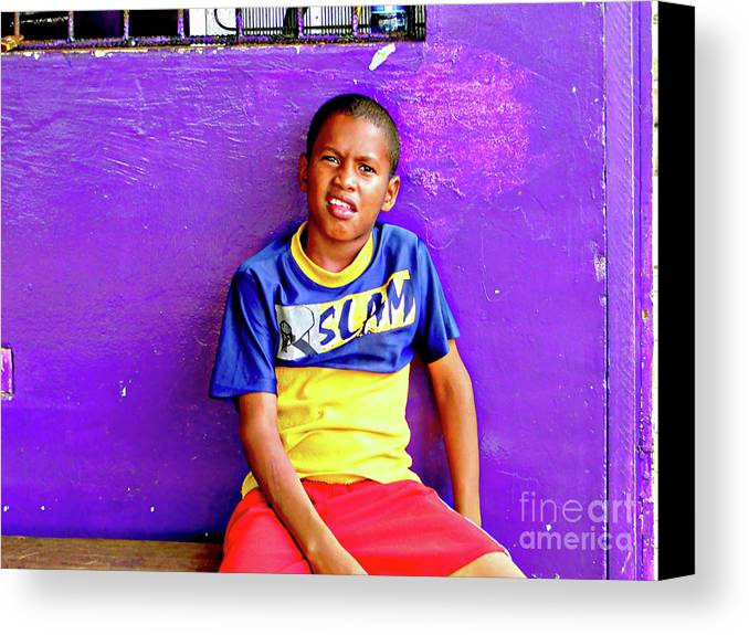 Expression Canvas Print featuring the photograph Panama Kids 967 by Al Bourassa