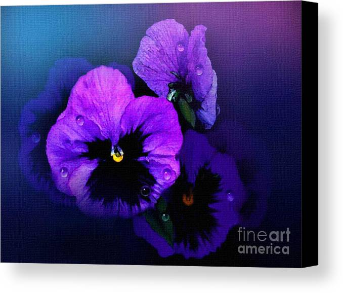Pansy Canvas Print featuring the painting Pansys by Robert Foster
