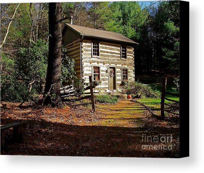 Cabin Canvas Print featuring the photograph Paradise by E Robert Dee