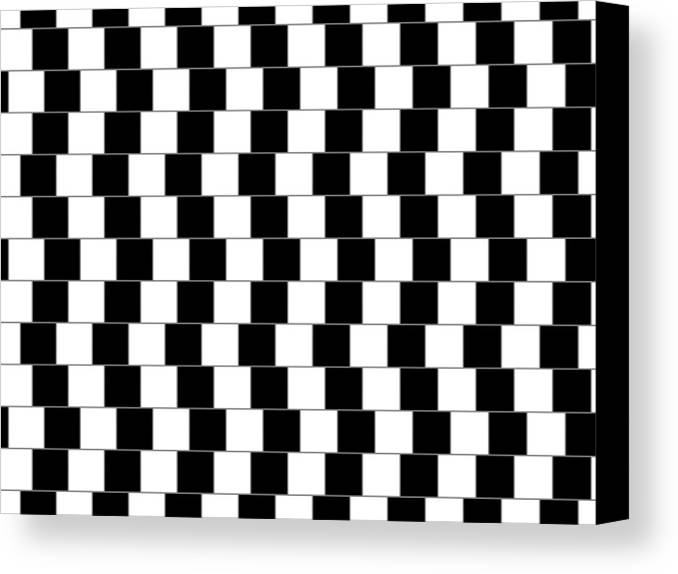 Optical Illusion Canvas Print featuring the digital art Parallel Lines by Michael Tompsett