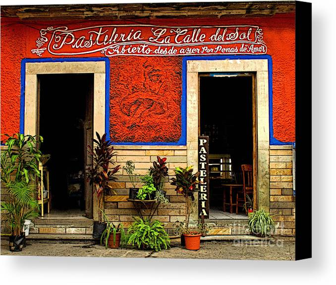 Darian Day Canvas Print featuring the photograph Pastileria by Mexicolors Art Photography