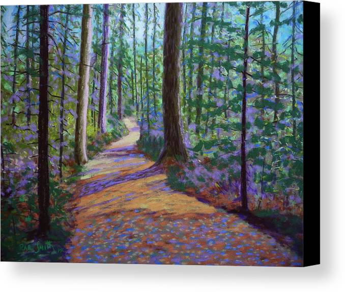 Landscape Canvas Print featuring the pastel Path To Hubbards Farm Market by Rae Smith