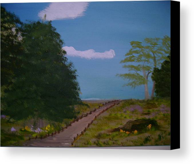 Landscape Canvas Print featuring the painting Pathway by Dottie Briggs