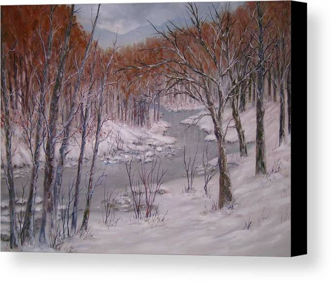 Peace Project Canvas Print featuring the painting Peace And Quiet by Ben Kiger