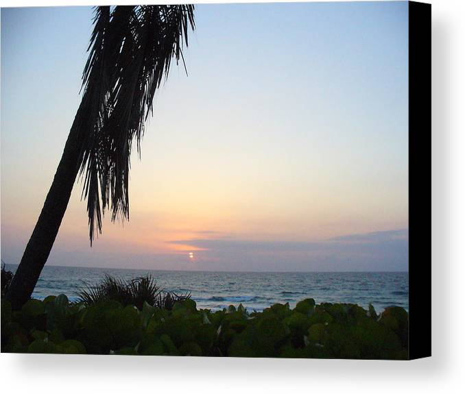 Ocean Canvas Print featuring the photograph Peaceful Morning by Peggy King