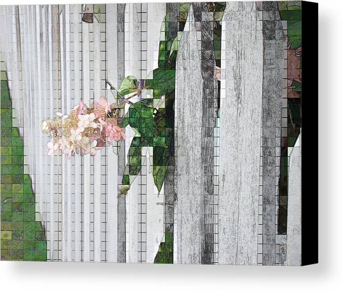 Photgraph Canvas Print featuring the photograph Pencil Mosaic by Tingy Wende