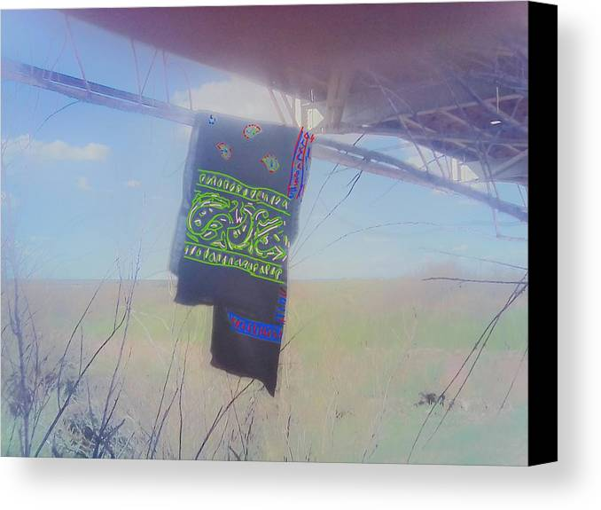 Photograph Canvas Print featuring the photograph Phone Cam 508 Abandoned Bandana by Bobby Yazzie