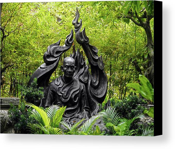 Phu My Canvas Print featuring the photograph Phu My Statues 6 by Ron Kandt