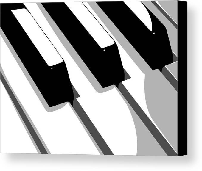 Piano Canvas Print featuring the digital art Piano Keyboard by Michael Tompsett