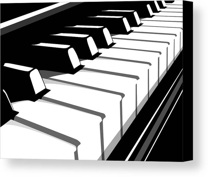 Piano Canvas Print featuring the digital art Piano Keyboard No2 by Michael Tompsett