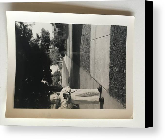 Canvas Print featuring the photograph Picture Of Boy With Camera by David Vera