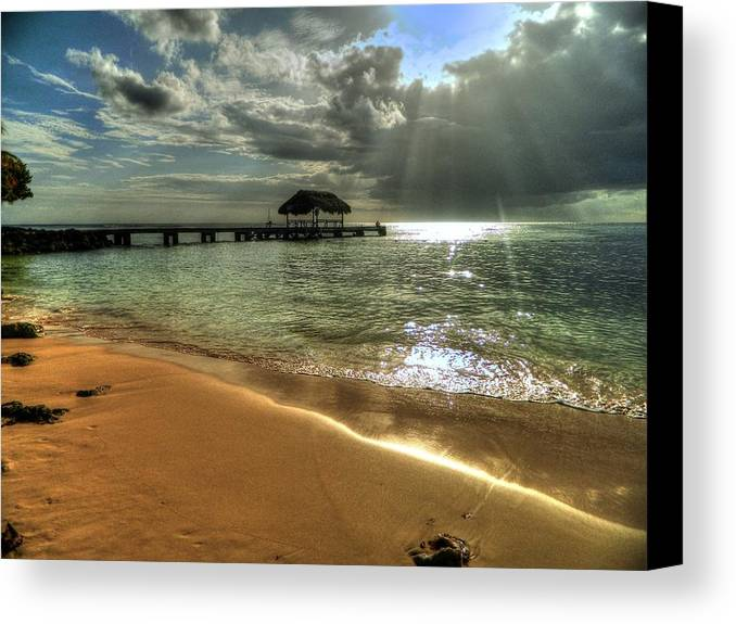 Beach Canvas Print featuring the photograph Pigeon Point Beach Tobago by Melony Mejias
