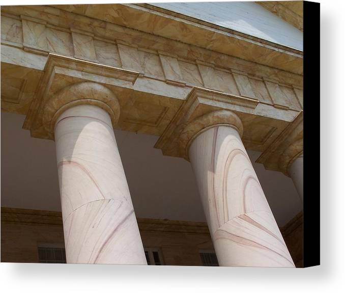 Pillars Canvas Print featuring the photograph Pillars by Vijay Sharon Govender