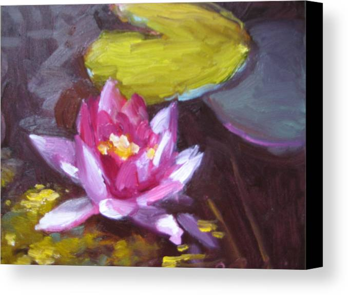 Lily Canvas Print featuring the painting Pink Lily by Susan Jenkins