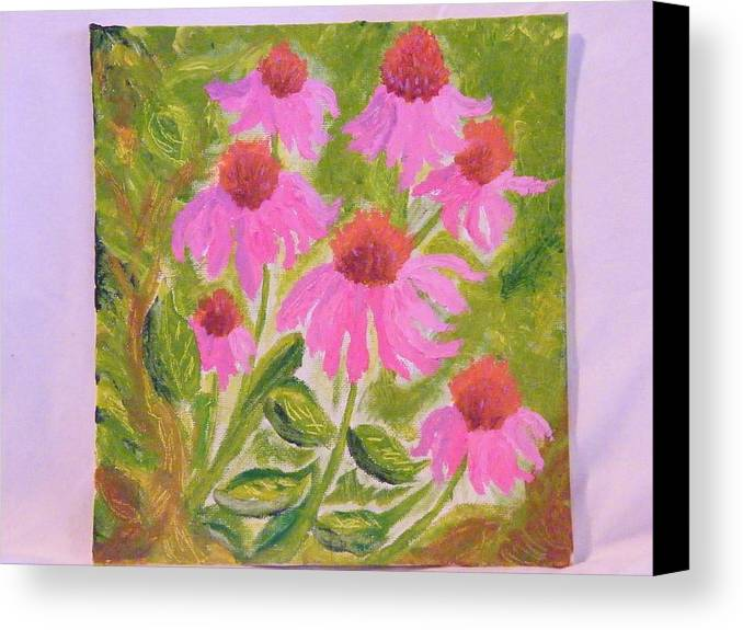 Flowers Canvas Print featuring the painting Pink Sunshine by Margaret G Calenda