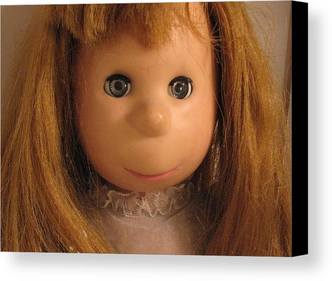 Doll Canvas Print featuring the photograph Poor Pitiful Pearl by Susie DeZarn