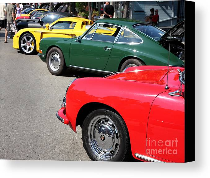 Car Canvas Print featuring the photograph Porche Row by Wingsdomain Art and Photography