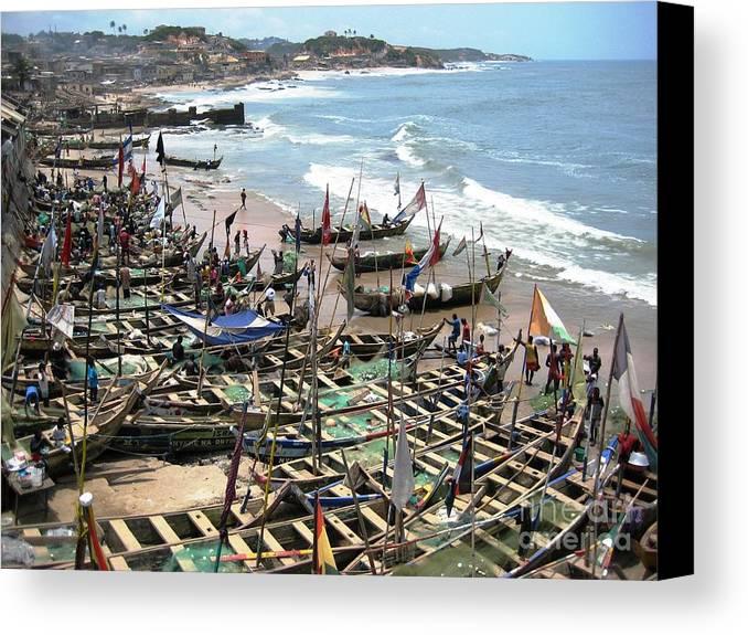 Port Canvas Print featuring the photograph Port Of Cape Coast Ghana by Deborah Selib-Haig DMacq