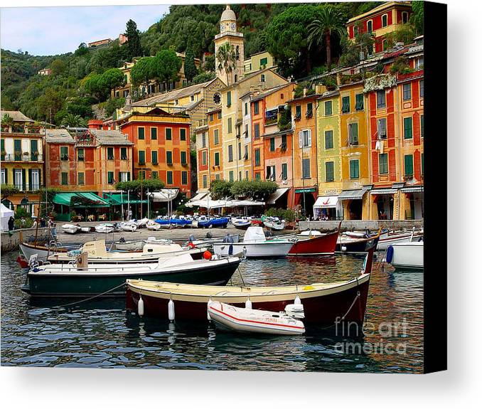 Portofino Canvas Print featuring the photograph Portofino Italy by Nancy Bradley