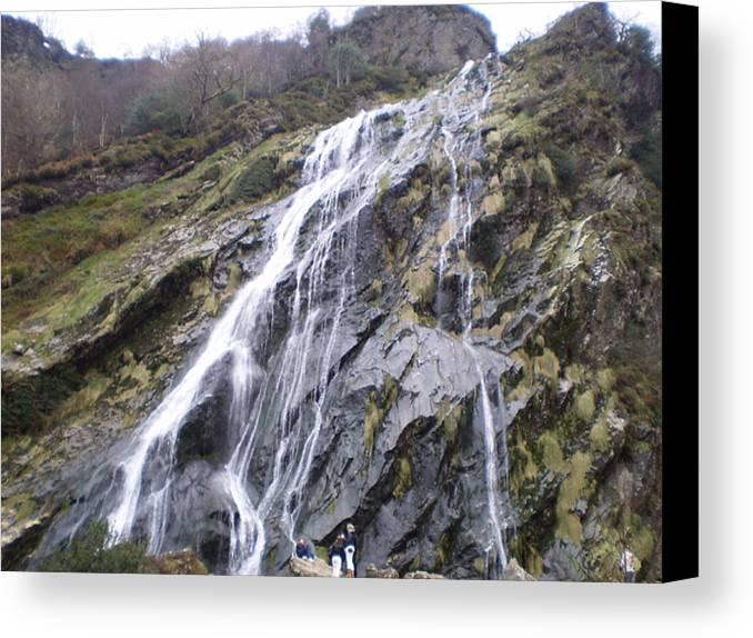 Powerscourt Waterfall Wicklow Ireland Canvas Print featuring the photograph Powerscourt Waterfall In Ireland by Paul Jessop
