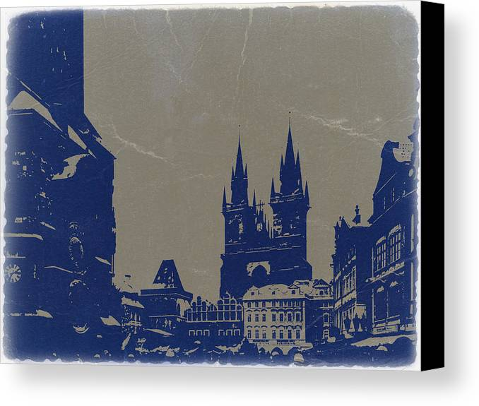 Prague Canvas Print featuring the photograph Prague Old Town Square by Naxart Studio