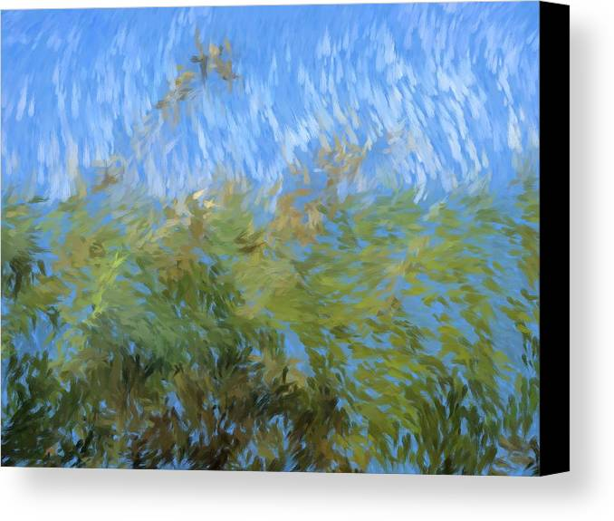Painting Canvas Print featuring the painting Prairie Impressions by Tingy Wende