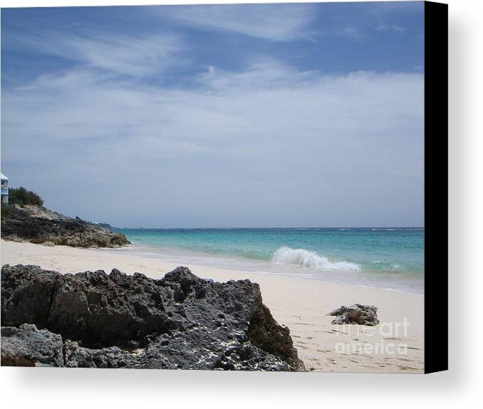 Bermuda Canvas Print featuring the photograph Private Bermuda Beach by PJ Cloud