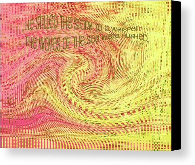 Storm Canvas Print featuring the digital art Psalm 107 by Bonnie Bruno
