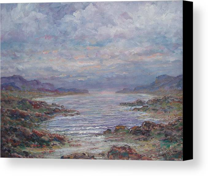 Painting Canvas Print featuring the painting Quiet Bay. by Leonard Holland
