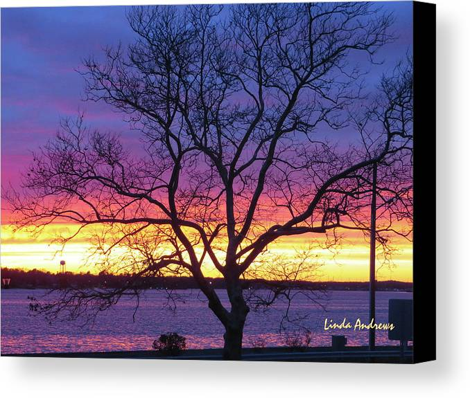 Sunset Canvas Print featuring the photograph Rainbow Sunset by Robert Henne