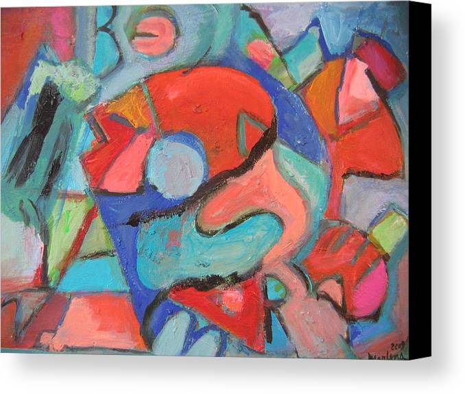 Abstract Canvas Print featuring the painting Rapture by Marlene Robbins