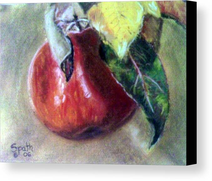 Fruit Canvas Print featuring the painting Red Apple by Jack Spath