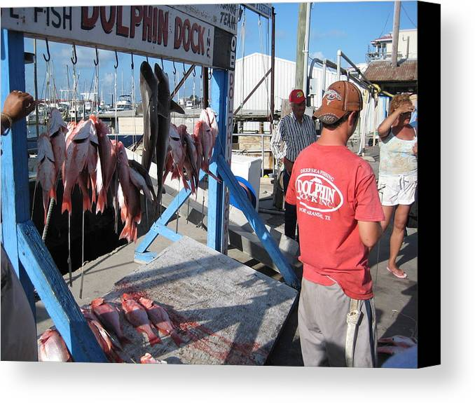 Island Canvas Print featuring the photograph Red Snapper Catch by Wendell Baggett