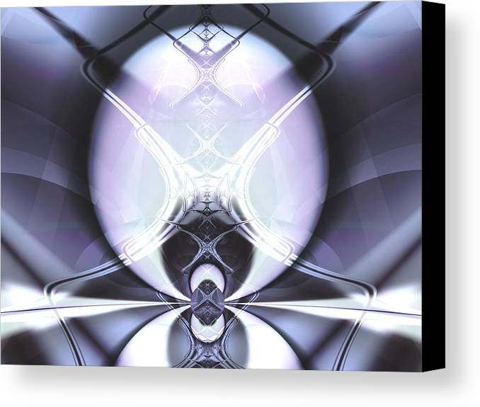 Digital Art Canvas Print featuring the digital art Reflecting Gateway by Frederic Durville
