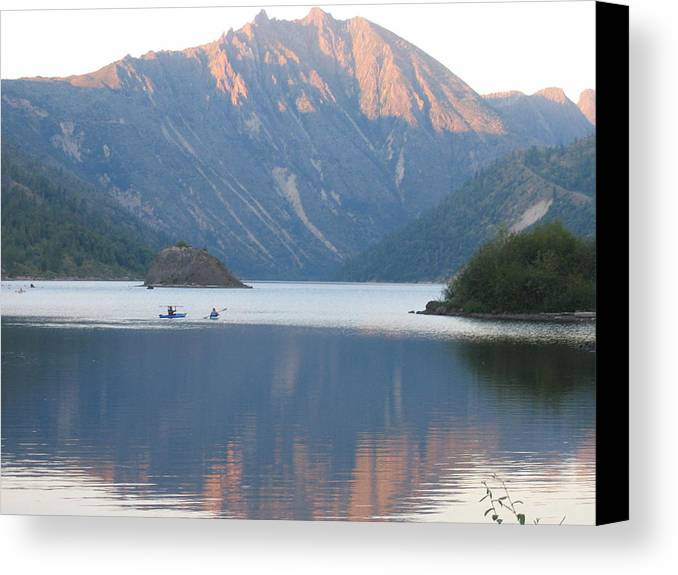 Canvas Print featuring the digital art Reflection by Barb Morton