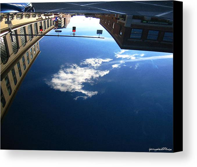 Reflection Canvas Print featuring the photograph Reflection Glass Roof by Gerard Yates