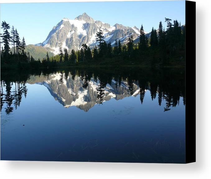 Mount Baker Nf Canvas Print featuring the photograph Reflection Lake by Joel Deutsch