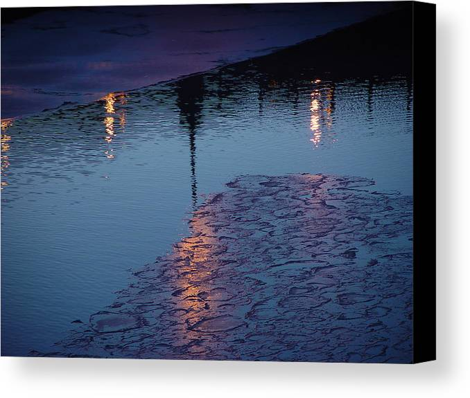 Water Canvas Print featuring the photograph Reflections by Eric Workman