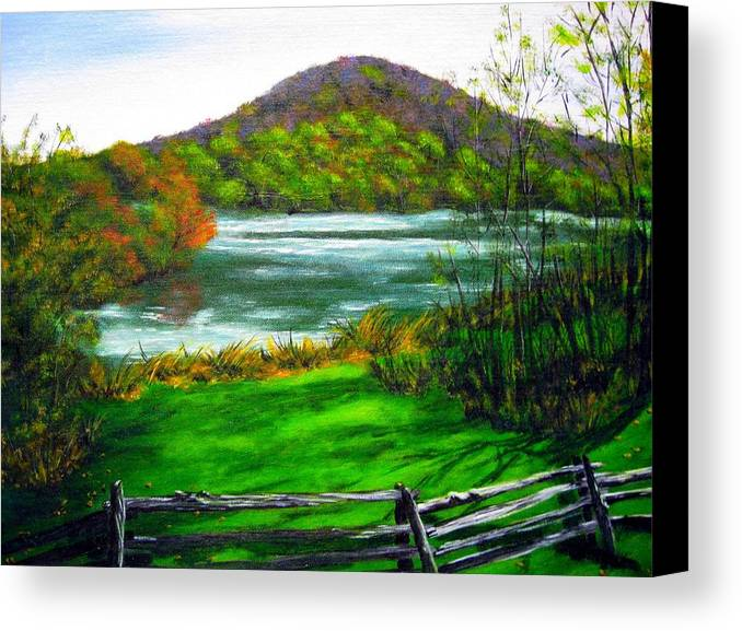 Water Canvas Print featuring the painting Relaxing by Cindy Yeakel