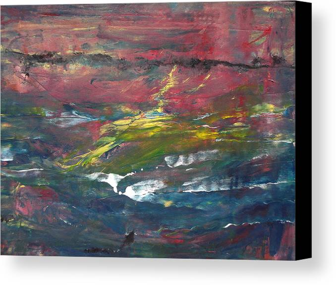 White Foamy Water Canvas Print featuring the painting Remote Area by Rivka Waas