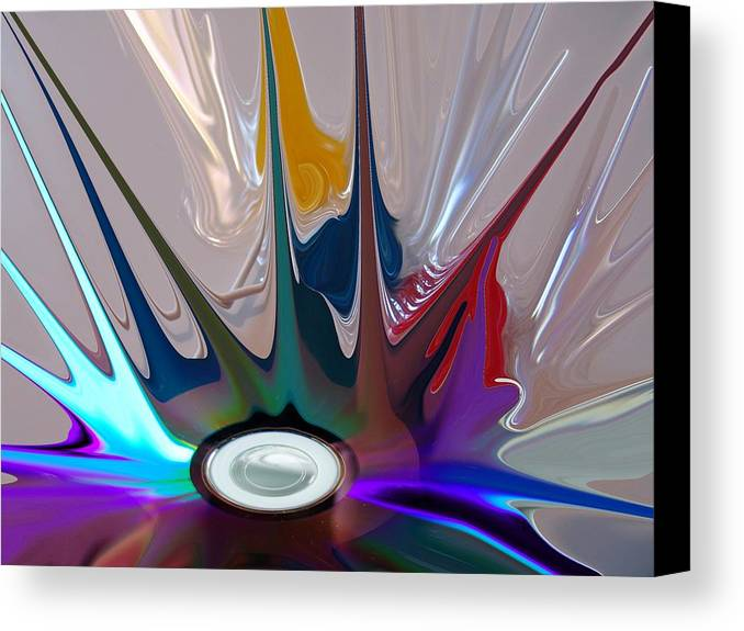 Abstract Canvas Print featuring the digital art Revolution by Florene Welebny